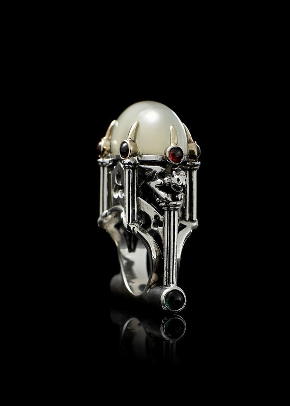 Cathedral Ring with Moonstone