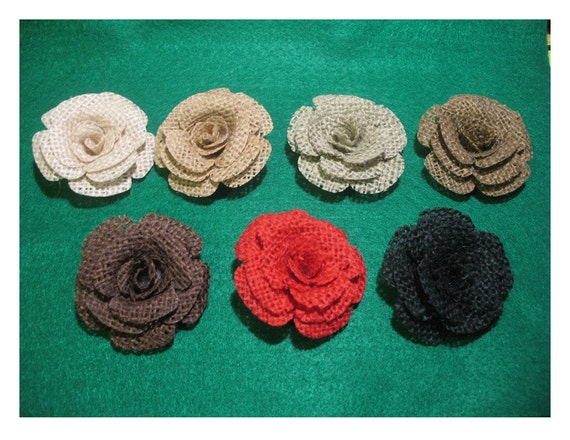Paula 39 s space burlap roses for Burlap flower template