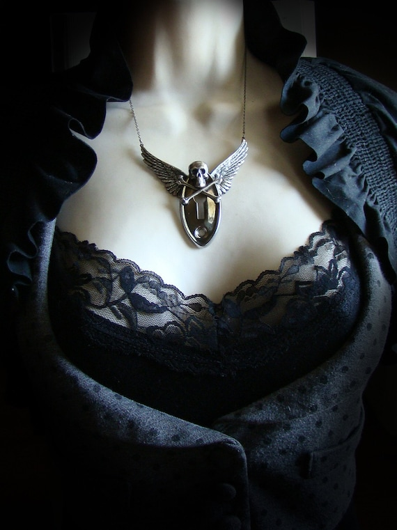 Henchmen - Skull and Keyhole Neo Victorian Steampunk Necklace