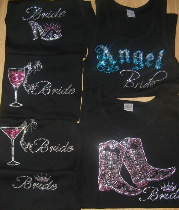 Bride Shoe Princess Cinderella Theme Wedding Gift Idea Crystal Rhinestone Tank Shirt