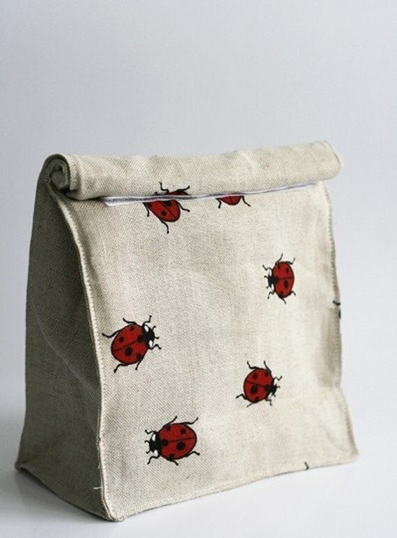 Lunch bag  Eco friendly  ladybird by JBworld on Etsy from etsy.com