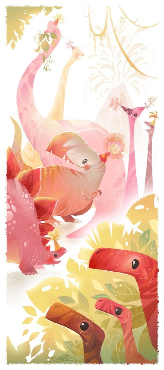 Dinosaur Party Print