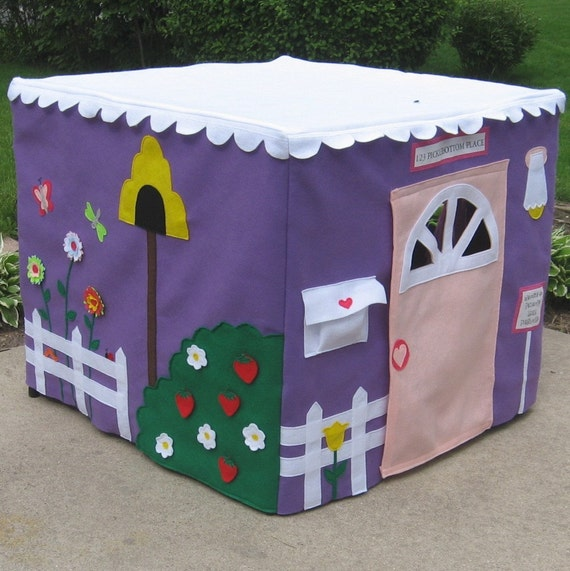 Card Table Playhouse, Lavender Lane Cottage, Personalized, Custom Order