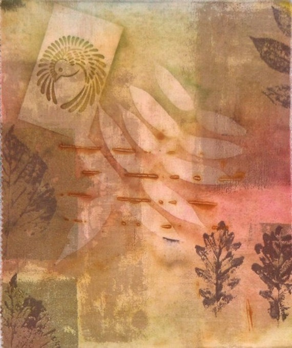 Sun Painted Over Rust Dyed on Cotton 3