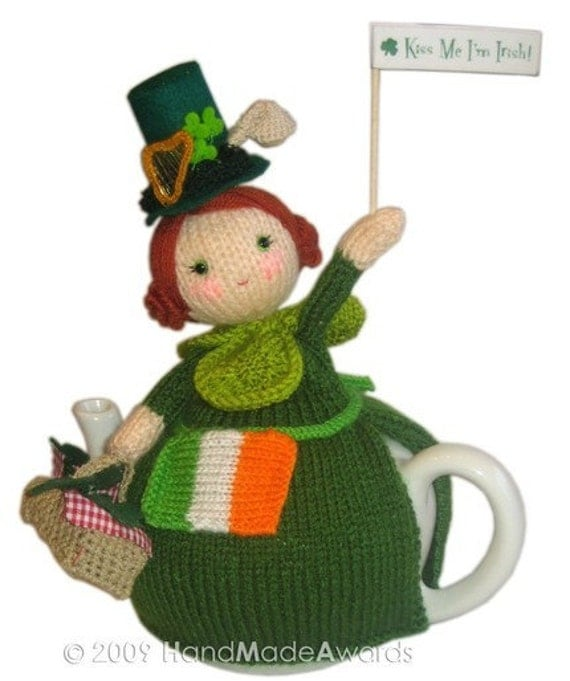 St. PATRICKS DAY TEA COSY pdf EMAIL CROCHET PATTERN