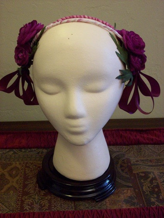 Head Dress Evening Floral Victorian Civil War From Shadygrovelady