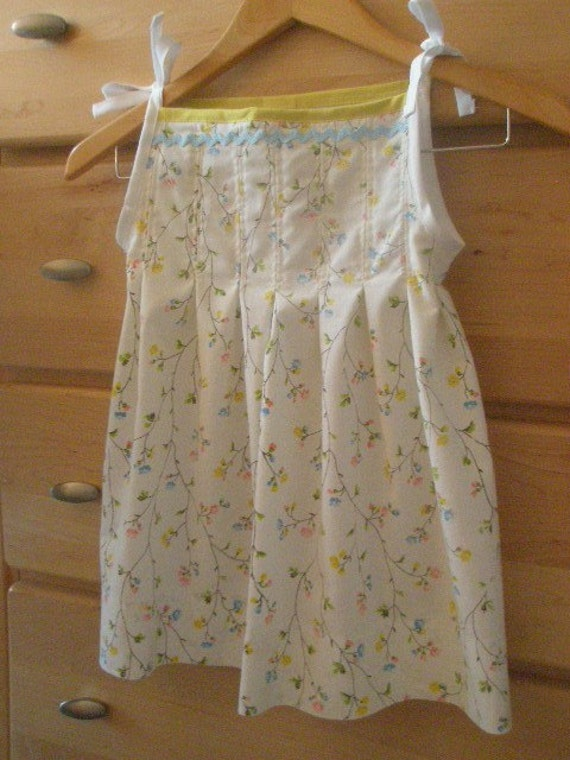 CHILDS PLEATED UPCYCLED PILLOWCASE DRESS