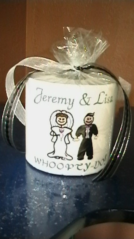 Embroidered Toilet Paper  Newly Weds Gag Gifts