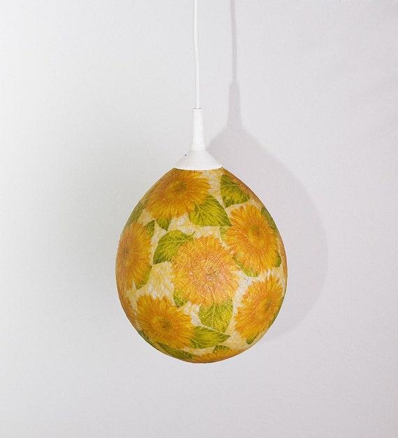 Ручная лампа, абажур, подвесной светильник, потолок, Современный дизайн интерьера цветочный акцент Подсолнухи на FiligreeCreations на Etsy