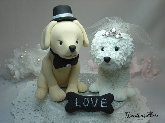 love dog couple with beautiful stand   (custom order)