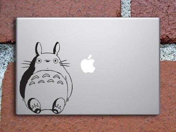 Your Friend Totoro - Macbook Black Vinyl Decal
