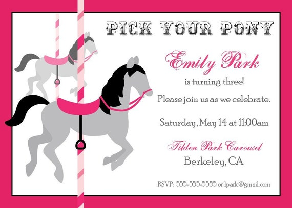 Carousel Party Lifes Little Celebration – Carousel Party Invitations