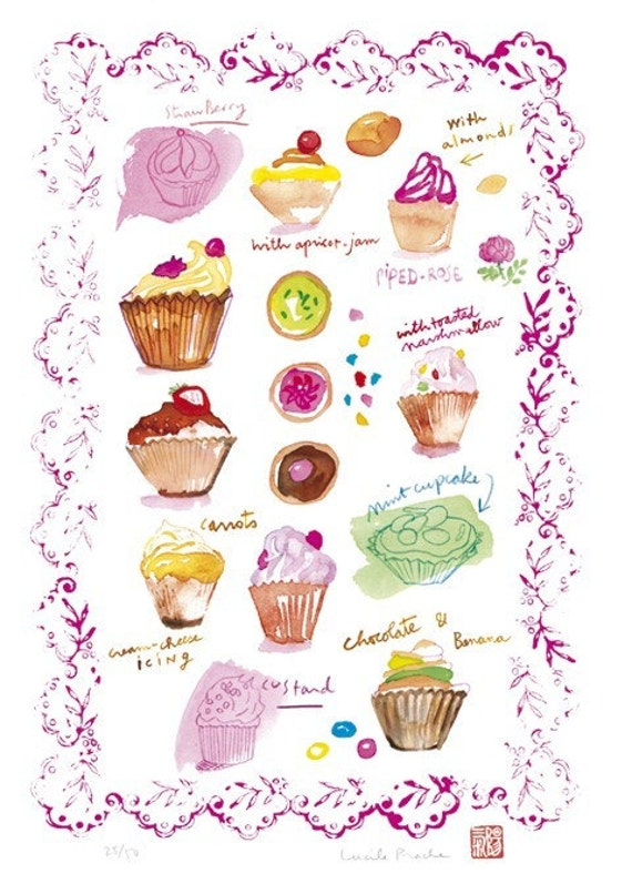Cupcakes collection- No 2- Limited edition print