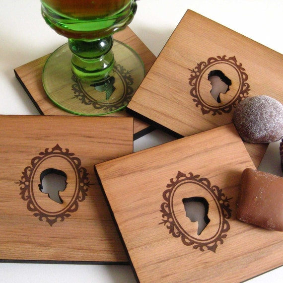 Silhouetted Wood Coasters