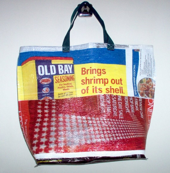 Old Bay recycled plastic shopping bag