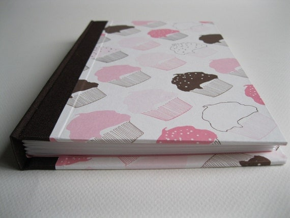 Pink and Brown Cupcake Hardback Journal