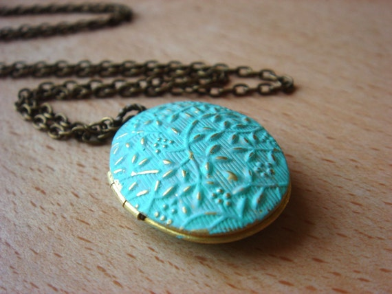 Something Blue - Necklace (Floral Promise Locket)