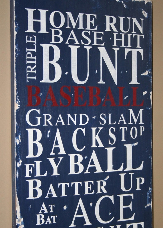Baseball Typography Word Art Sign  - Take Me Out to the Ball Game - This is the Perfect Coaches Gift