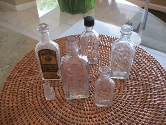 Vintage  bottles  Set of 6