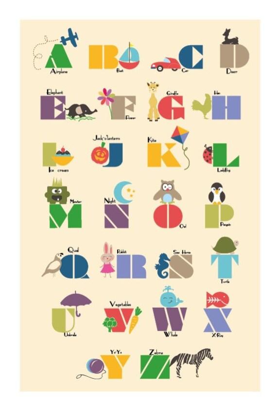 Alphabet Art 13x19