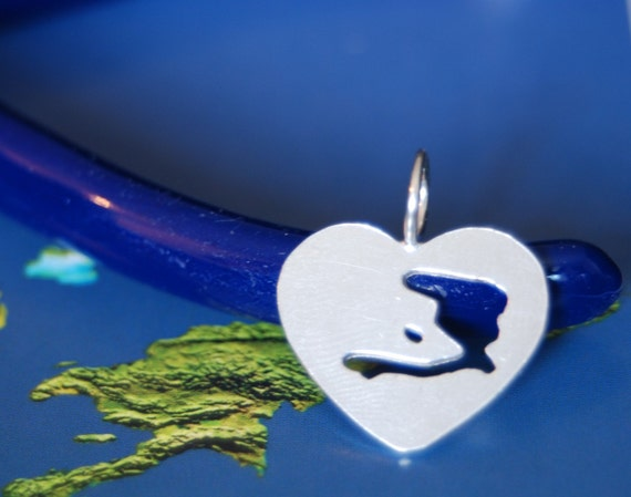 Sterling Silver Heart-Shaped Haiti FUNDRAISER Pendant