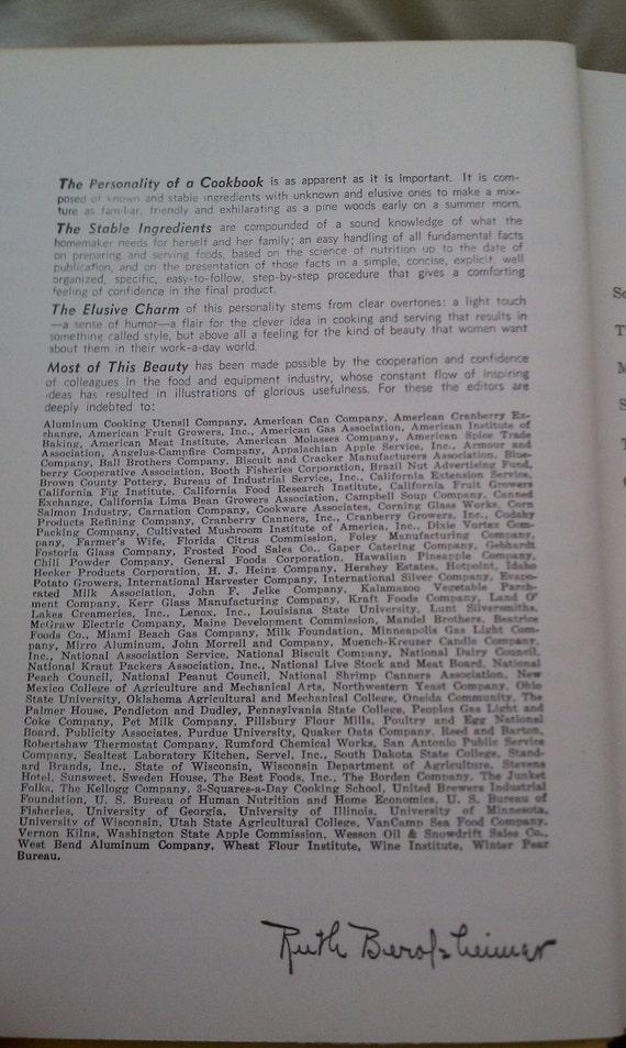 1950 Culinary Art Institute Encyclopedic Cookbook