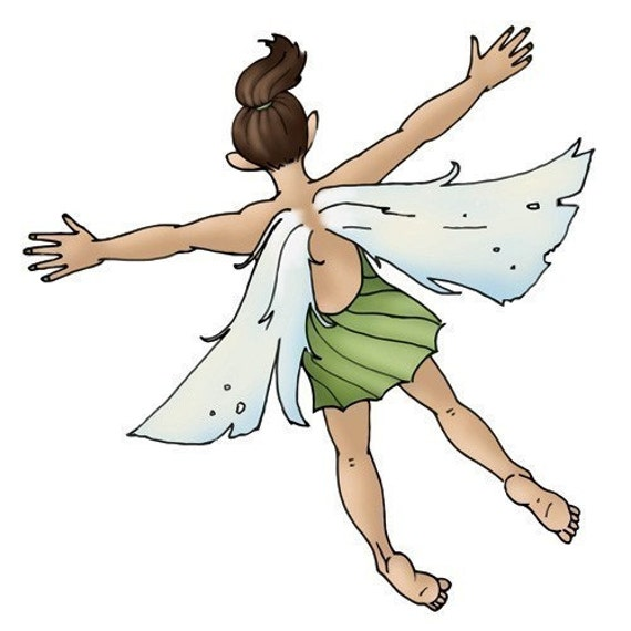 Flattened Fairy Sticker - Dashed Daisy