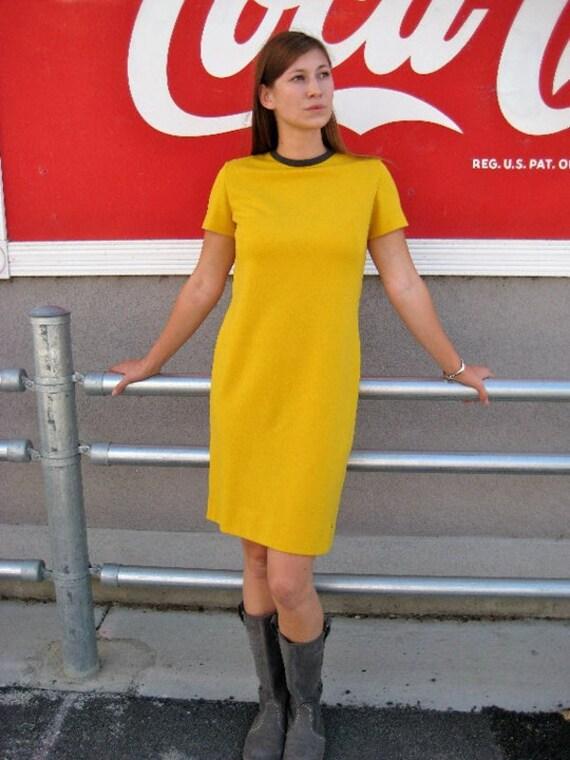 Mod YELLOW Sheath Dress M