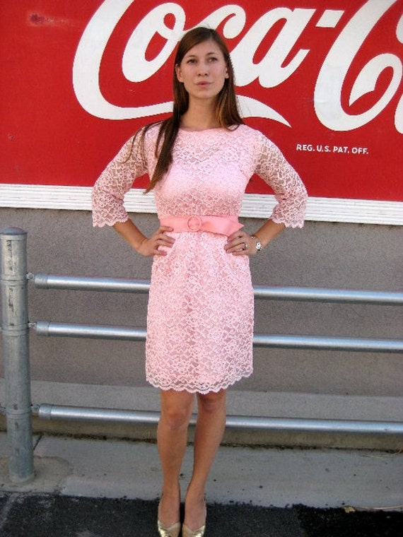 Vintage LACE LOVE in PINK M/L
