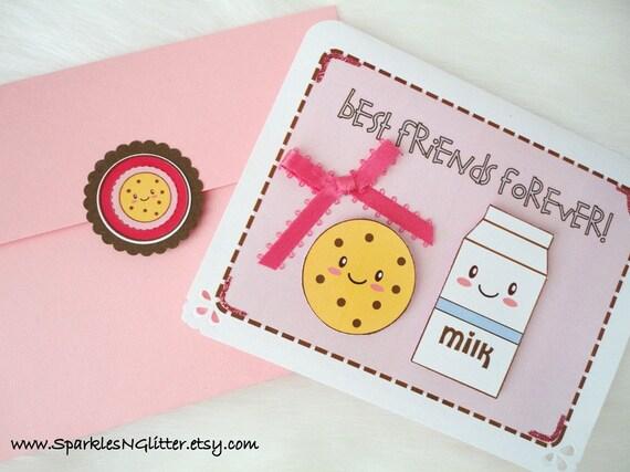 Cookies and Milk Best Friends 3D Card