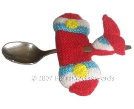 AIRPLANE SPOON for your Baby Pdf Email CROCHET PATTERN