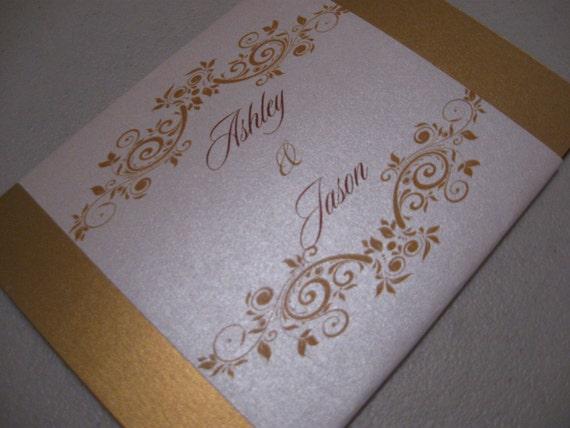 ELEGANT 24k Gold Folio Invitation Suite