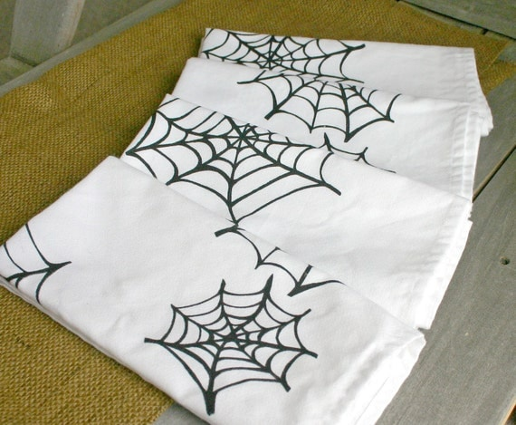 Spiderweb Cloth Dinner Napkins-Set of 4