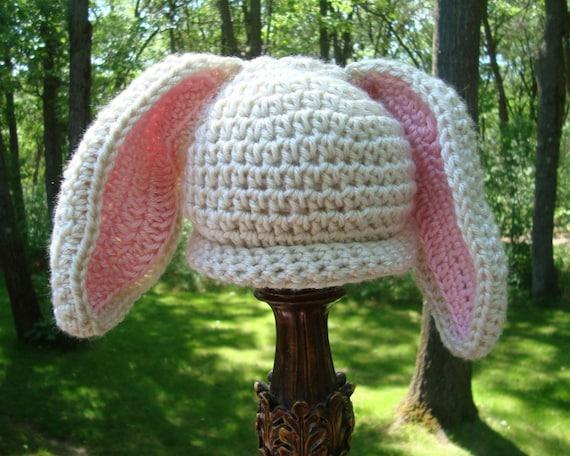 Free Crochet Pattern For Rabbit Ears : Floppy Bunny Ears