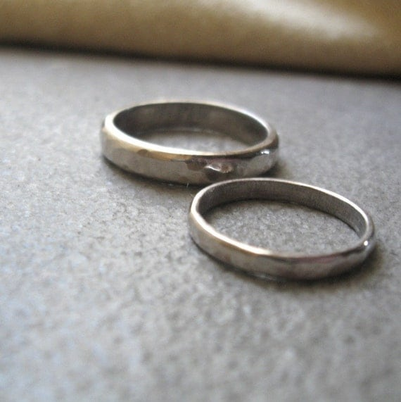 Hammered Wedding Bands