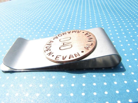 Personalized Handstamped Money Clip
