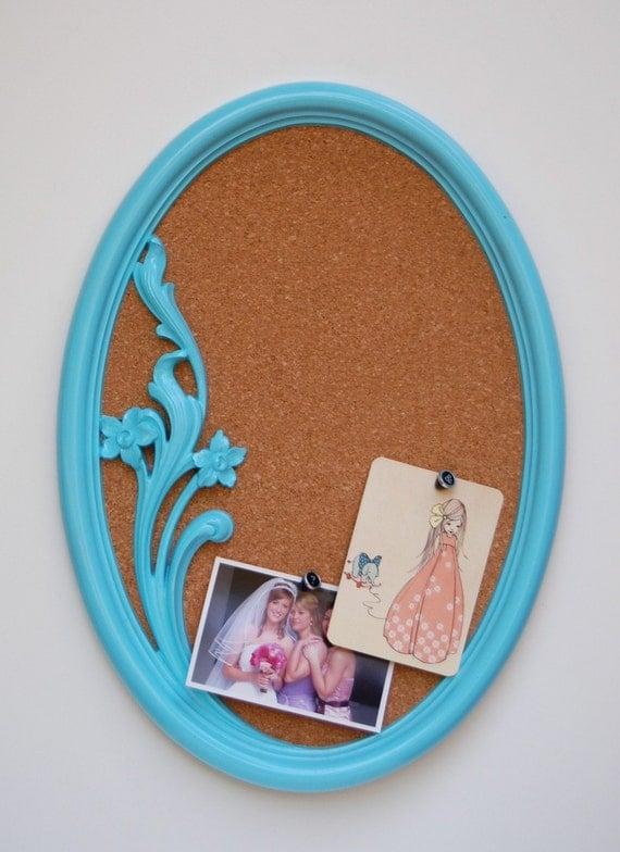 Upcycled Vintage Floral Frame Bulletin Board