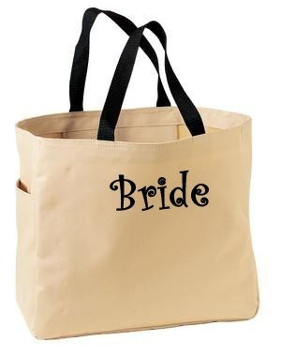 Personalized Cheer Dance Beach Bridesmaid Gift Tote Bag Name or Initial