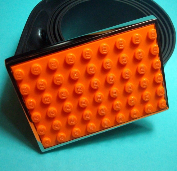 Belt Buckle LEGO Orange