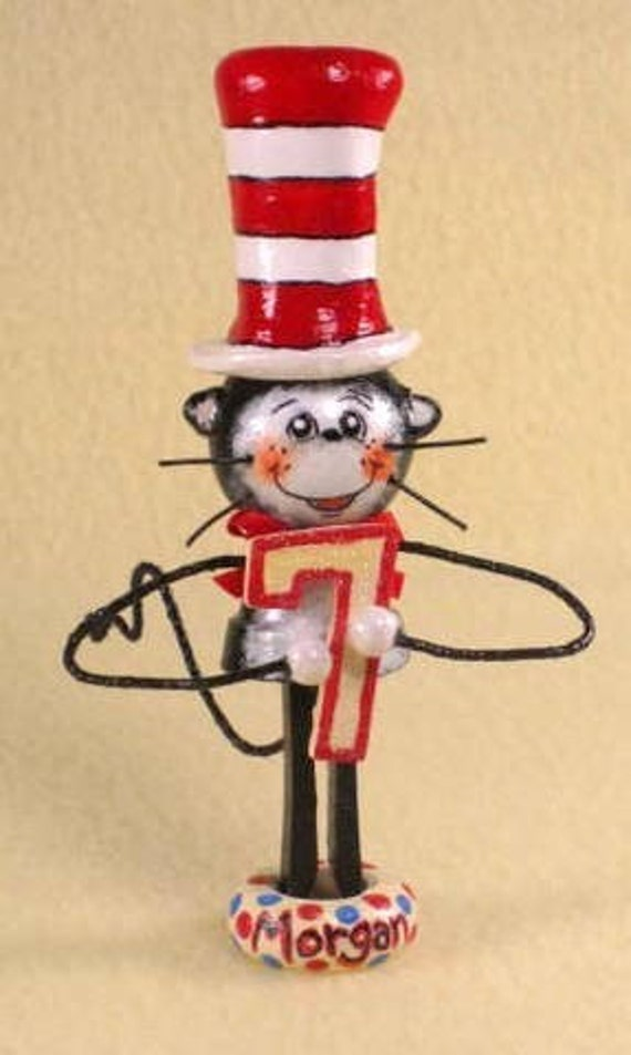 Cat In the Hat Cake Topper and/or Keepsake. From gergeex