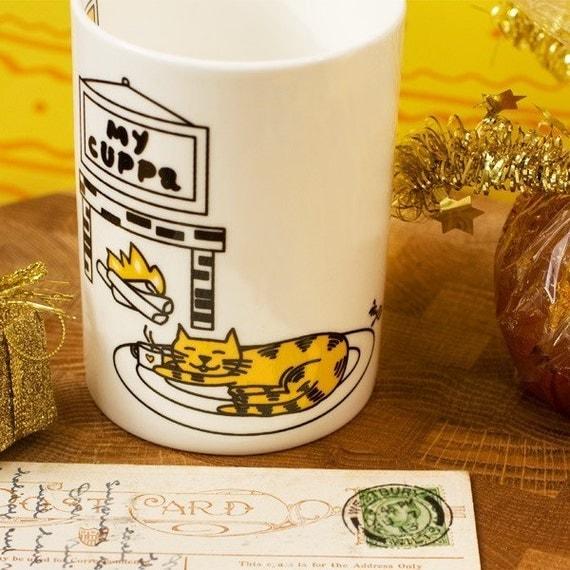Ginger Cat 'My Cuppa' Mug