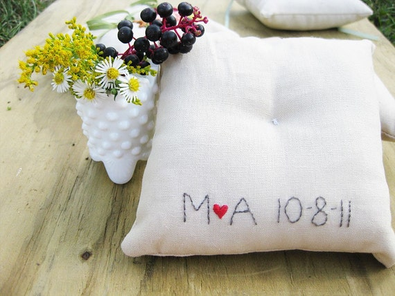 ADD ON to a ring pillow order - custom personalization