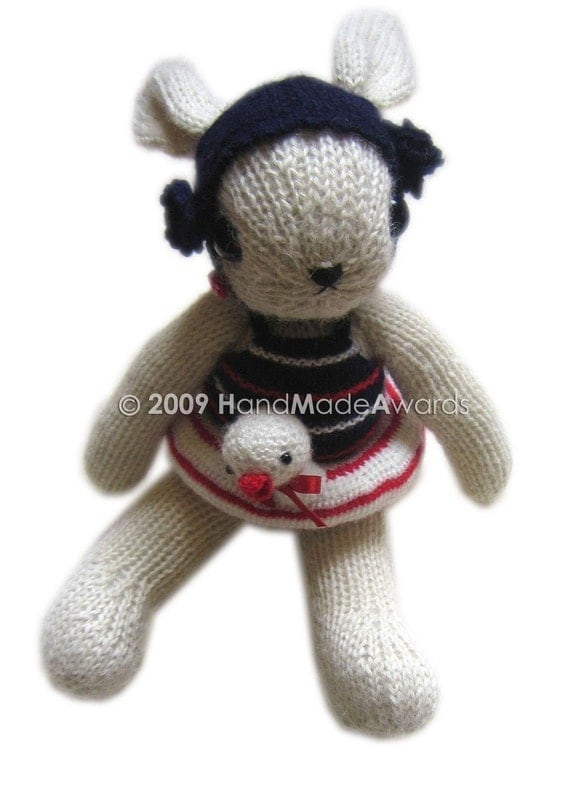 LOVELY ESTHER WILLIAMS BUNNY AND HER ACCESSORIES KNIT PDF EMAIL PATTERN BY HandMadeAwards