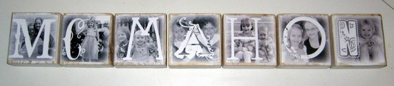 Photo Letter Blocks- LAST NAME WEDDING / ENGAGEMENT GIFT- per block price