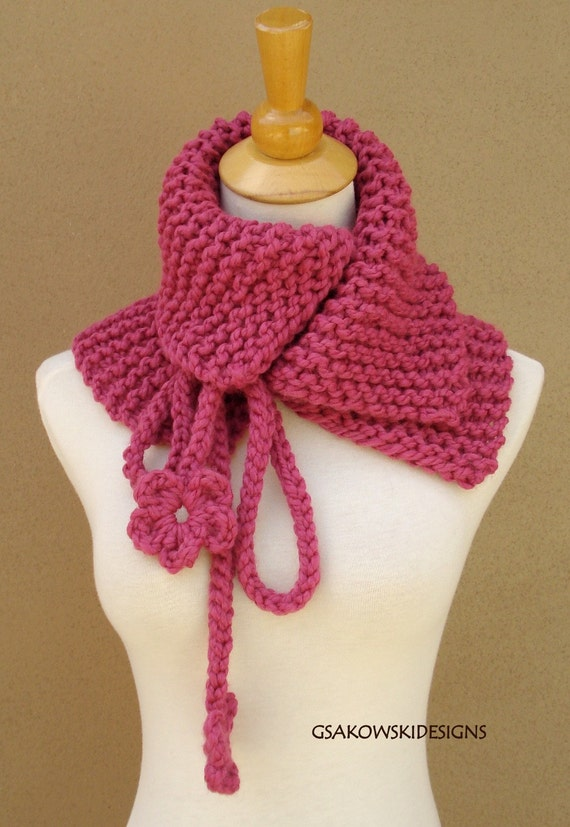 Josephine Cowl-Neck Warmer-Raspberry