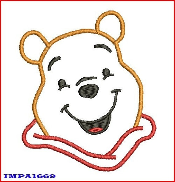 POOH BEAR EMBROIDERY DESIGN