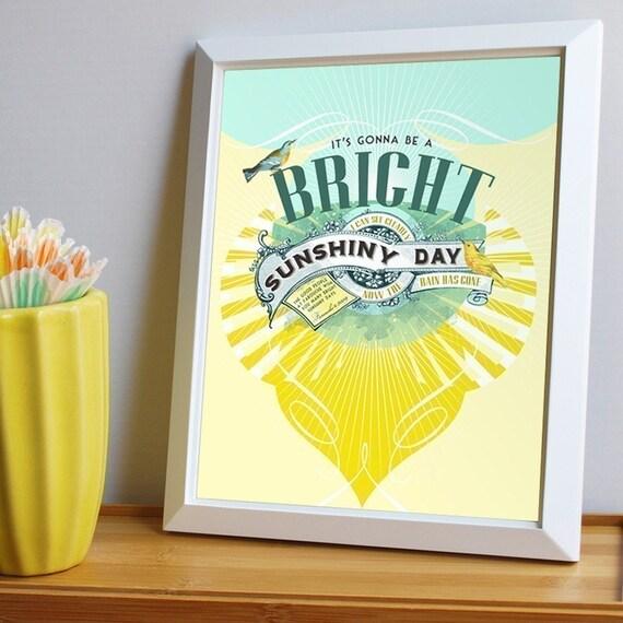 Bright Sunshiny Day from etsy.com