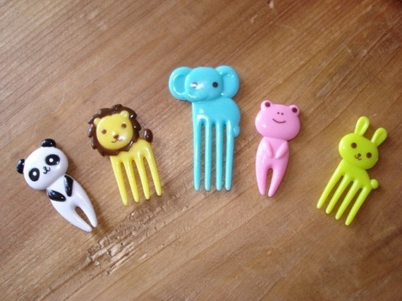 Cute Animal Cupcake Topper - Bento Picks - 10 pcs
