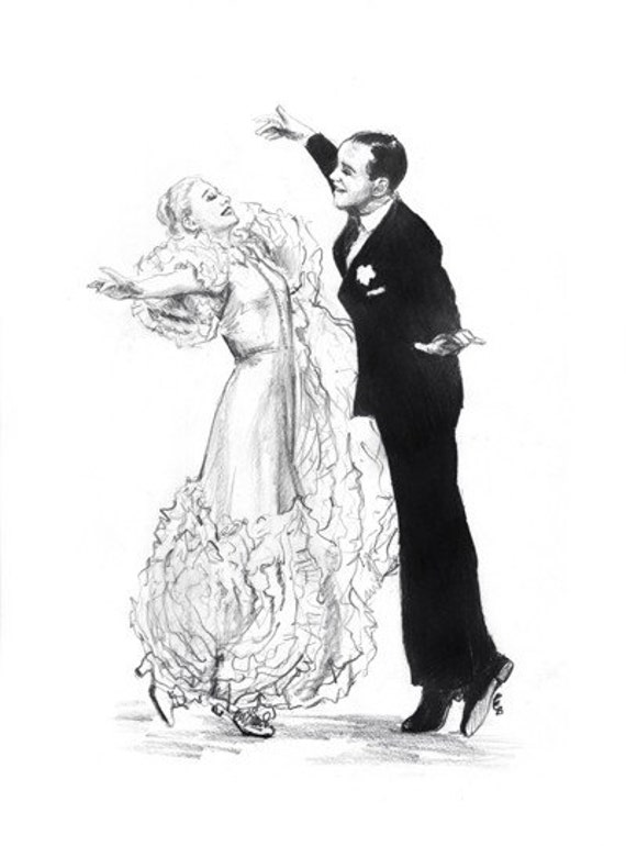 Fred and Ginger - Swing Time (Art Print)