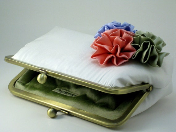 ROSETTES Clutch Purse - Bouquet